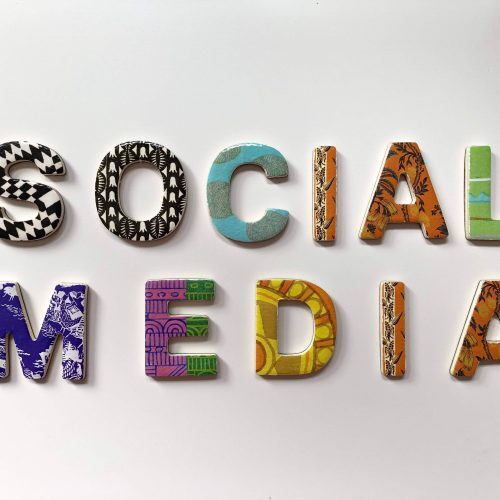 colorful Social media letters