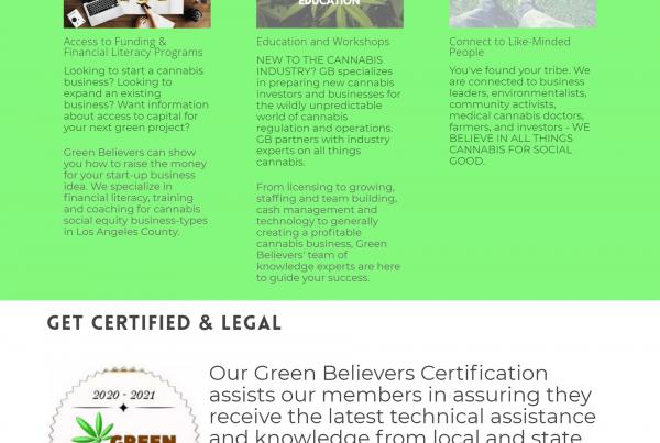 Green Believers Website