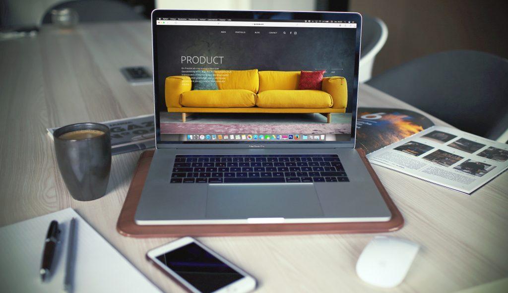 website on a laptop on a desk